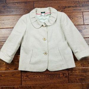 <j.crew> metallic linen holly jacket